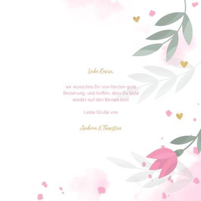 Gute Besserungskarte mit Blumenmotiv in Pastell 3