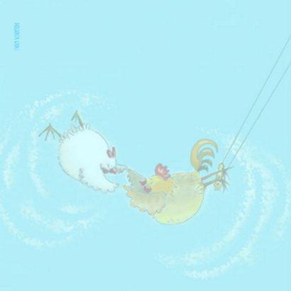 Haan en kip in de trapeze 2