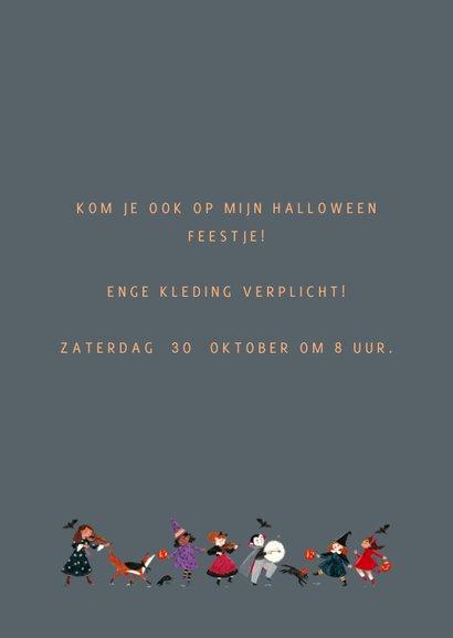 Halloween feestje illustratie kinderen verkleed 3