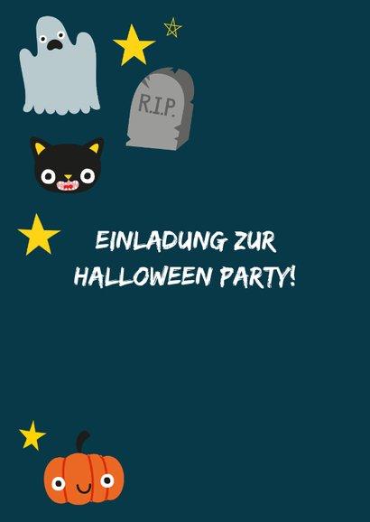 Halloween Karte mit fröhlichen Abbildungen 2