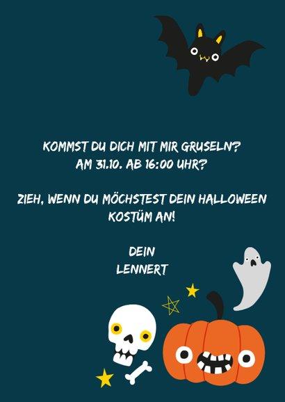 Halloween Karte mit fröhlichen Abbildungen 3