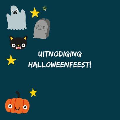 Halloween uitnodiging met illustratie 2