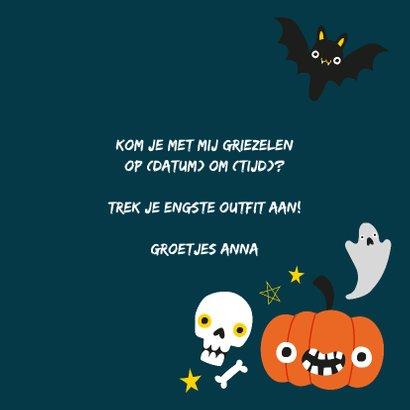 Halloween uitnodiging met illustratie 3