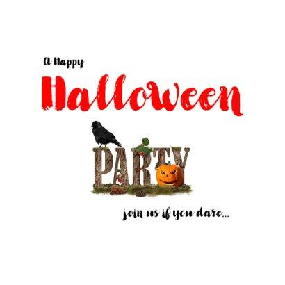 Halloweenfeest Jack en zwarte vogel 2
