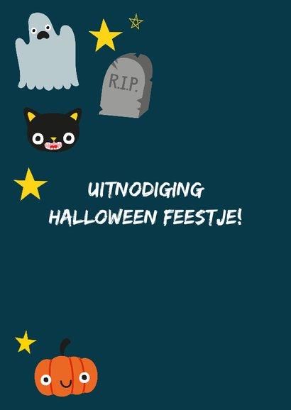 Halloweenkaart met vrolijke illustratie 2