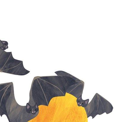 Halloweenkaart vleermuizen  2