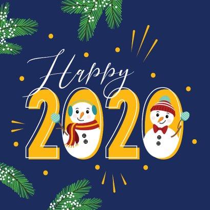 Happy 2020 met deze gezellige sneeuwpoppen 2
