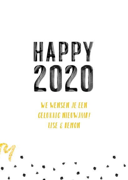 Happy 2020 verf letters 3