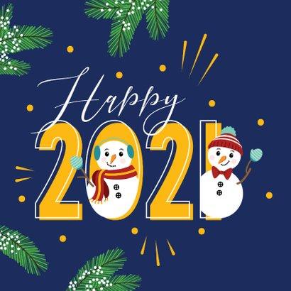 Happy 2021 met deze gezellige sneeuwpoppen 2