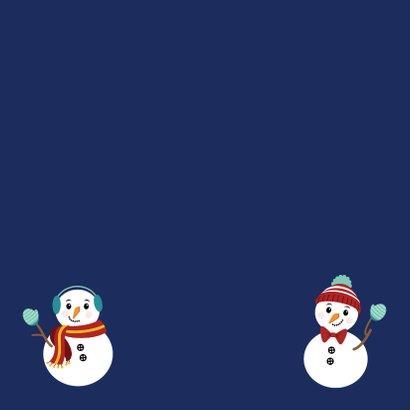 Happy 2021 met deze gezellige sneeuwpoppen Achterkant