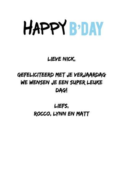 Happy B'day @ eigen naam 3