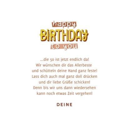 Happy Birthday Geburtstagskarte 3