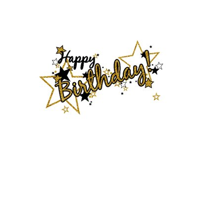 Happy Birthday glamour glitter  3