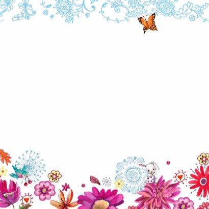 Happy Birthday Letters Bloemen 3