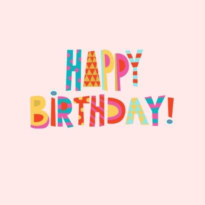 Happy Birthday verjaardagskaart vrouw 2