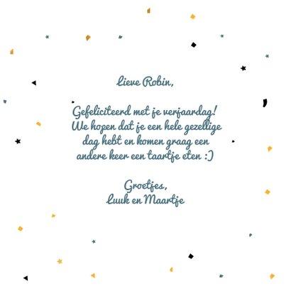 Happy Birthday with balloon - verjaardagskaart 3