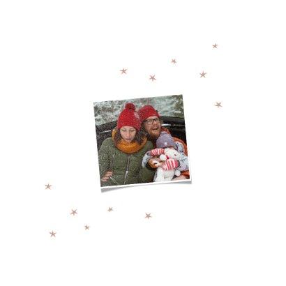 Happy Ho Ho Ho kerstkaart met kleine sterretjes 2