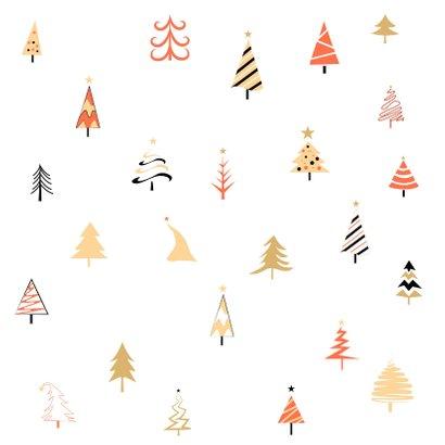 Happy Holidays kerstbomen feestje Achterkant