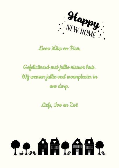 Happy New Home vrolijke kaart met hartje voor veel geluk 3