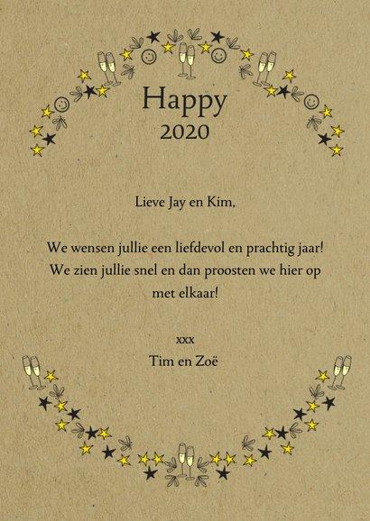 Happy New Year 2020 met champagne en sterren 3