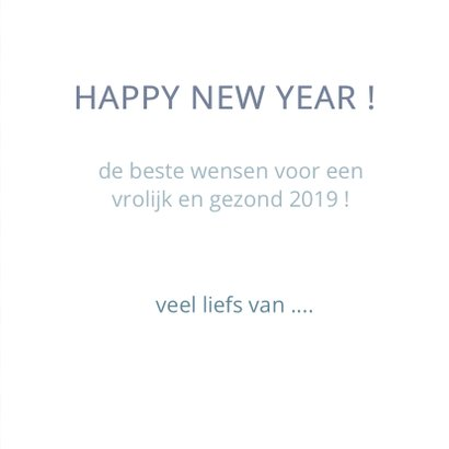 Happy new year geometrisch blauw 3