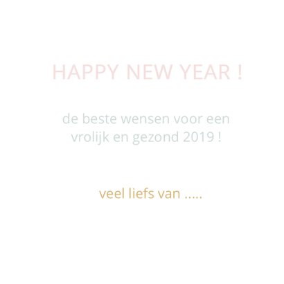 Happy new year geometrisch roze 3