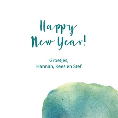 Happy new year waterverf 3
