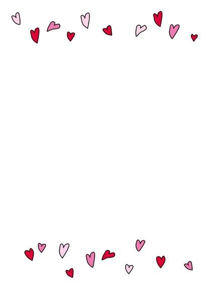 Hartjes hart met aanpasbare tekst 2