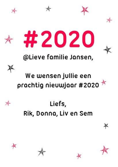 Hashtag humor nieuwjaarskaart 2020 3