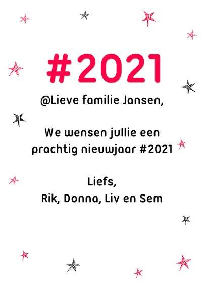 Hashtag humor nieuwjaarskaart 2021 3