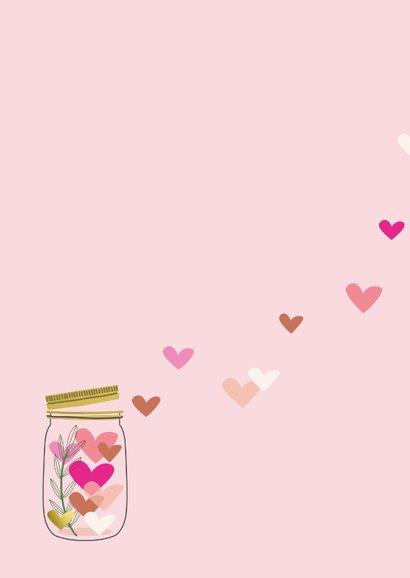 Heel veel liefs in glazen pot met hartjes 2