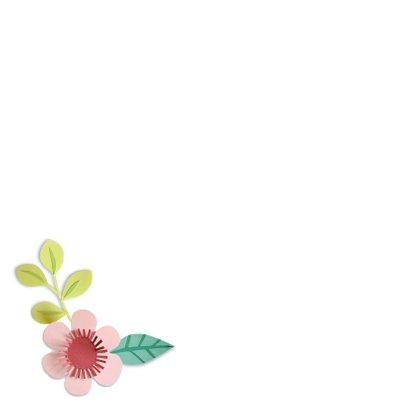 Heel veel succes! bloemenrand 2
