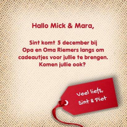 Heerlijke Sinterklaaskaart 3