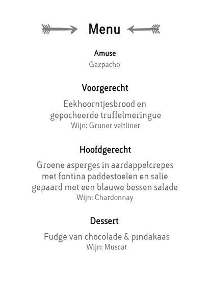 Hell Yeah - een stoere menu kaart voor trouwfeest met foto 3