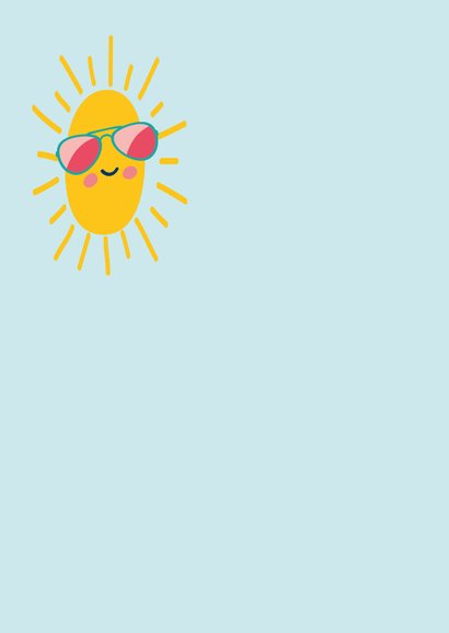 Hello sunshine - zomer kaart 2