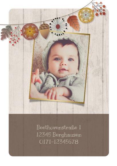 Herbstliche Einladungskarte zum Kindergeburtstag mit Foto 2