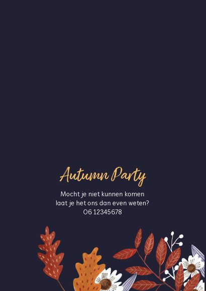 Herfstbladeren feestje Autumn party 2
