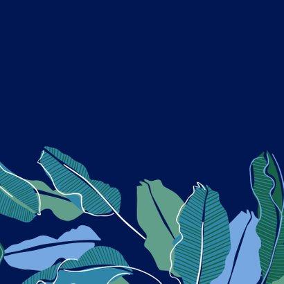 Herfstkaart bladeren donkerblauw 2
