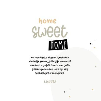 Hip felicitatiekaartje home sweet home met blaadjes 3