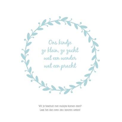 Hip geboortekaartje krans 2