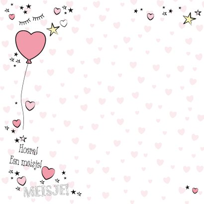 Hippe felicitatie kaart in handlettering-stijl met een baby 2