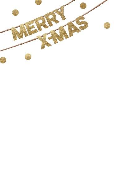 Hippe foto kerstkaart Merry Christmas 2
