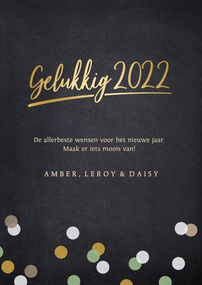 Hippe fotocollage nieuwjaarskaart met 9 polaroids en 2022 3