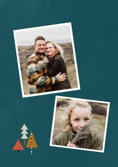 Hippe fotokaart met kerstbomen illustratie 2