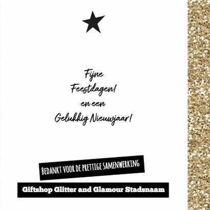 Hippe glamour kerstkaart met logo 3
