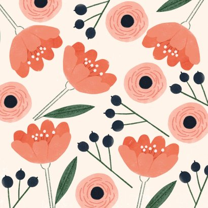 Hippe Grußkarte mit Blumen 2