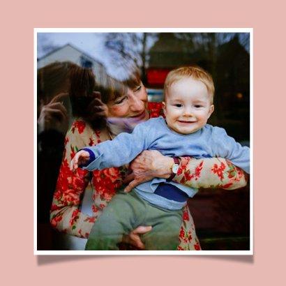 Hippe handlettering moederdagkaart voor de liefste oma  2