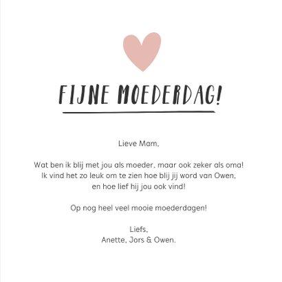 Hippe handlettering moederdagkaart voor de liefste oma  3