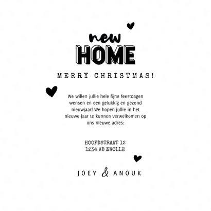 Hippe kerst verhuiskaart new home hartjes en sneeuw 3