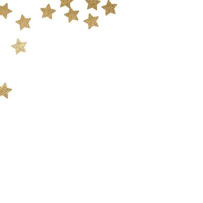 Hippe kerstkaart foto sterren confetti 2